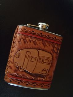 Custom+leather+covered+flask+8+oz+by+JBLeather+on+Etsy,+$48.00