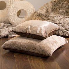 Mink Faux Fur Cushions | BeanBagBazaar #Christmas #British #Design