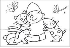 Kleurplaat Pompom huisdieren