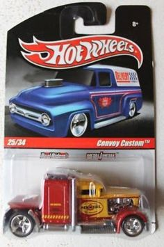 2010 Hot Wheels Delivery Slick Rides Pennzoil Convoy Custom Real Riders MOMC  #HotWheels