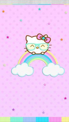 Kitty Ipod Wallpaper, Kawaii Wallpaper, Cellphone Wallpaper, Hello Kitty Backgrounds, Hello Kitty Wallpaper, Pastel Background Wallpapers, Cute Wallpapers, Cute Screen Savers, Dreamcatcher Wallpaper