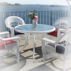 #wicker by the #water - #red  #white #blue wickerparadise.com