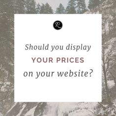 Should You Display Your Service Prices on Your Website?