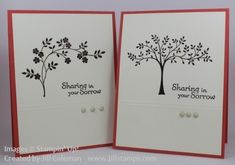 Thoughts and Prayers Sympath Cards by jillastamps - Cards and Paper Crafts at Splitcoaststampers