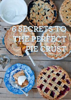 Living Well: 6 Secrets To The Perfect Pie Crust _ Perfect Pie Crust Tutorial Just Desserts, Delicious Desserts, Yummy Food, Pie Dessert, Dessert Recipes, Yummy Treats, Sweet Treats, Do It Yourself Food, Perfect Pie Crust