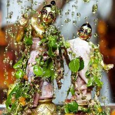 #Abhishekam of the divine couple .