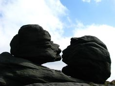 Kissing Stones (Wain Stones) Bleaklow Kissing, Natural Beauty, Stones, Silhouette, Holiday, Nature, Photos, Beautiful, Art
