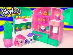 Shopkins Season 3 Metallic So Cool Fridge Refrigerator Toy Playset with MY Little Pony Fash'ems - YouTube