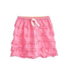 Girls' drawstring cupcake skirt june2012