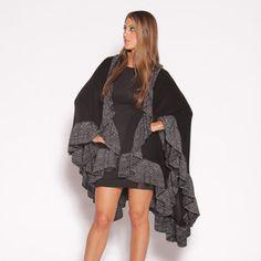 Metallic Ruffle Wrap Black, $48, now featured on Fab. - WAAAAAANT!!!