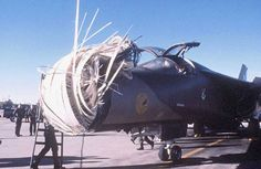 F-111D, Tail Number 168, 524th FS, Canon AFB, NM. The aircrew lost in a game of Duck Duck Goose (probably on 15 Sep 1989). The aircraft was so badly damaged it could not be repaired.