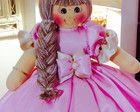 Boneca De Pano princesa 50 Cm