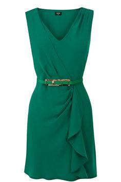 Oasis V-Neck Ruffle Dress 55 pounds