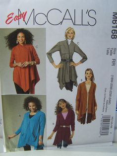 McCall's M6168 Women's Sewing Pattern  Plus Size by WitsEndDesign