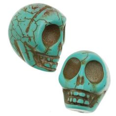 Turquoise-Magnesite-Dyed-Gemstone-Bes-Carved-Skulls-14x18mm-TS