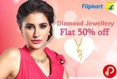 Flipkart Valentine Gift Offers Flat 50% off on Diamond Jewellery + Free Diamond Pendant worth Rs.2000. Precious Jewellery, Necklaces & Chains, Anklets, Bangles, Bracelets & Armlets, Rings, Jewellery Sets, Mangalsutras & Tanmaniyas and Accessories. Asmi, Nakshatra, gDivas, Gitanjali, Nirvana, Sagini & many more big brands offering.  http://www.paisebachaoindia.com/diamond-jewellery-flat-50-off-free-diamond-pendant-worth-rs-2000-valentine-gift-offers-flipkart/