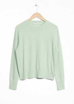 & Other Stories image 1 of Cashmere Knit Sweater in Mint Green