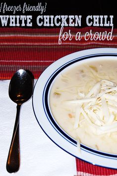 Freezer Friendly White Chicken Chili #CrockPot