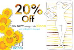 End of summer blooms!  Celebrate this rare but gorgeous British summer we've had with a special 20% off eontu until 31st September 2013. Just use discount code bloom at the checkout. Don't forget you can now order via the Facebook shop too! https://www.facebook.com/eontu/app_1401268010096882