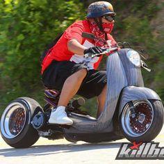Concept Motorcycles, Custom Motorcycles, Custom Bikes, Motor Scooters, Vespa Scooters, Mini Bike, Scooter Motorcycle, Scooter Scooter, Yamaha Scooter