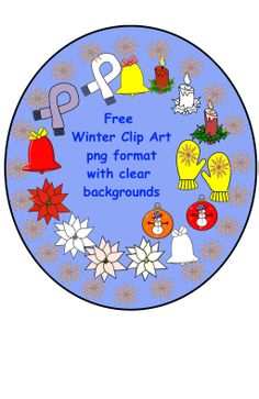 16 Free Winter Clip Art in png format with transparent backgrounds.