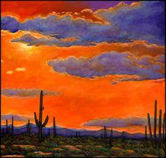 Desert Landscape Paintings   ... Harris Fine Art   Contemporary Southwest Landscape Giclee Art Prints