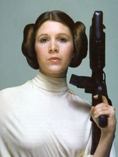 Actress/writer/screenwriter Carrie Fisher turns 58 today - she was born 10-21 in 1956. She's iconically identified with her role in Star Wars as Princess Leia.
