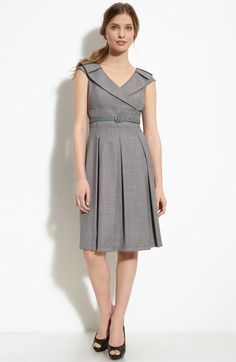 Tahari makes such pretty dresses, knee length Grey Outfit, Gray Dress, Belted Dress, Dress Skirt, Pants For Women, Clothes For Women, Work Clothes, Petite Dresses, Work Attire