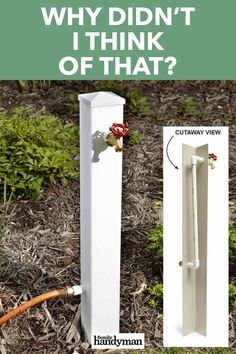 Why Didn't I Think of That? - - These ingenious tips, tricks and solutions to common problems are simple, smart and straightforward. These home hacks are far out. Garden Yard Ideas, Lawn And Garden, Garden Projects, Home Projects, Garden Hose, Diy Backyard Projects, Cool Garden Ideas, Garden Cart, Garden Bed
