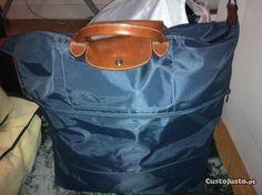 Saco de viagem Longchamp azul Original