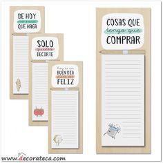 Blocs de notas con imán para neveras, con frases y mensajes positivos y originales - WWW.DECORATECA.COM