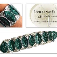 Bracelet capsules nespresso inspiration aztec - vert d'eau