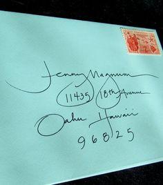 calligraphy envelope handwritten addressing by blissfulinkbykeeli, $1.25