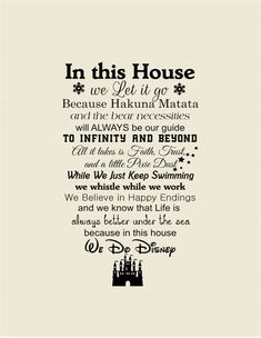 In this House We Do Disney Wall DecalsWall DecalDisney SignsHome  sc 1 st  Pinterest & We Do Disney Disney wall decal quote wall decal vinyl wall sticker ...