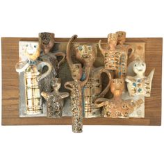 Hal Fromhold Ceramic Wall Plaque | From a unique collection of antique and modern wall-mounted sculptures at https://www.1stdibs.com/furniture/wall-decorations/wall-mounted-sculptures/