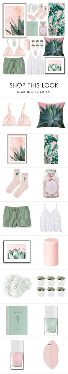"""plants & pink🌵🌸"" by soleia19 ❤ liked on Polyvore featuring La Perla, Art Addiction, PBteen, Topshop, Gap, WALL, Abigail Ahern, The Hand & Foot Spa and STELLA McCARTNEY"