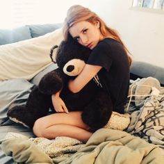 bellathorne: This is chocolate ❤️ I snuggle him everynight… I think he enjoys my company :) maybe he doesn't …won't stop me from stealing a snuggle ! Famous In Love, Olivia Holt, Bella Thorne, Big Bear, Loving U, Happy Sunday, New Movies, Snuggles, Sweet Dreams