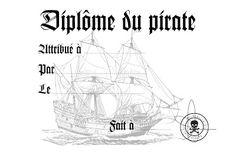 Un beau diplôme du pirate à imprimer