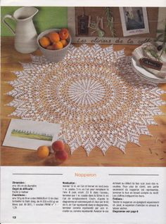 French Pointed Doily w/Chart /;)