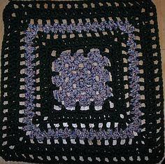 """8"""" Granny Bars Granny Square - crochet"""