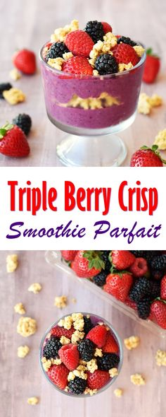 Triple Berry Crisp Smoothie Parfait Recipe - plant-based, dairy-free, single serve @lovemysilk @target #ad