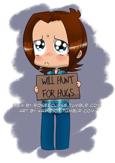"""kamidiox: """" roseeclipse: """" Adorable Sam Winchester commission by the talented Kamidiox"""""""
