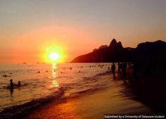 You can feel the hot Brazilian sun in this shot! Taken by UD student Michele Marino in Lpanema, Brazil. #UDAbroad
