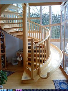 Stairs with a slide?  Why not?
