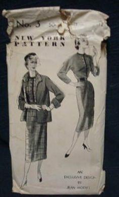 1950s Designer Jean Modist Dress and Jacket by kinseysue