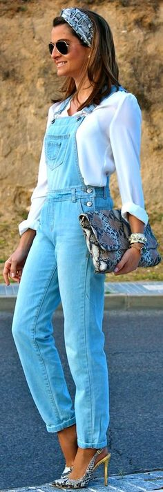 Primark Blue Washed Denim Women's Overall by Oh my Looks