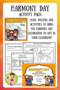 All you need to celebrate Harmony Day in your classroom March) with plenty of hands on activities, vocabulary work, posters, maps, classroom activities and more. Explore this celebration of diversity with your students. Primary School Curriculum, Primary Teaching, Teaching Kids, Teaching Resources, Teaching History, Classroom Resources, Harmony Day Activities, Hands On Activities, Literacy Activities