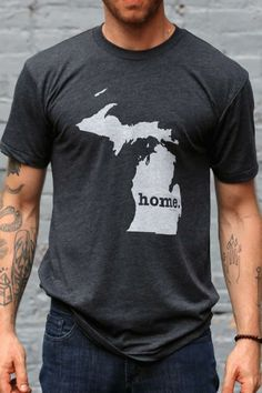 The Michigan Home T-shirt is a stylish way to show off your state pride, while also helping raise money for multiple sclerosis research. Miss Michigan, State Of Michigan, University Of Michigan, Detroit Michigan, Northern Michigan, Bourbon And Boots, The Mitten State, Home T Shirts, Go Blue