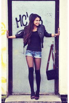 Black-h-m-jacket-black-gucci-bag-navy-mango-shorts-black-gucci-flats