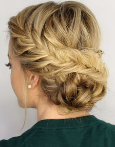 Hot Fishtail Braided Updo Hairstyle. Get awesome discounts up to 80% Off at Wigsbuy using Coupon and Promo Codes.